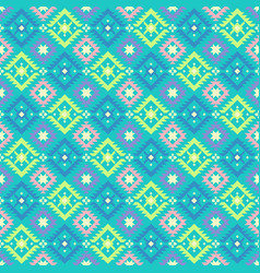 Geometrical tribal ethnic pattern vector