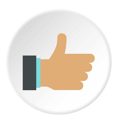 gesture approval icon circle vector image