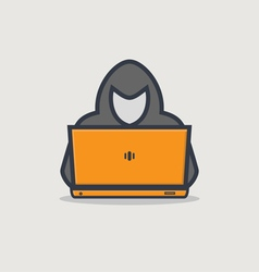 Hacker line icon vector image