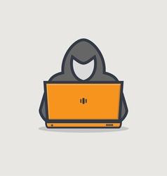 Hacker line icon vector