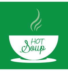 Hot soup in a bowl vector image