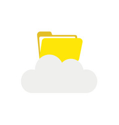 icon concept of opened file folder on cloud vector image
