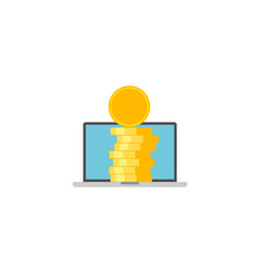 income flat icon vector image