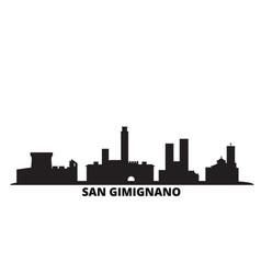 italy san gimignano city skyline isolated vector image