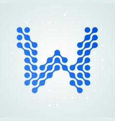 letter w logo halftone icon vector image