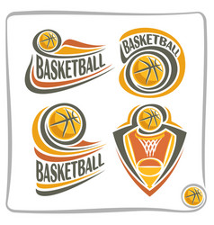 logo basketball ball vector image