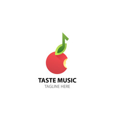 logo for music web site studio radio store vector image