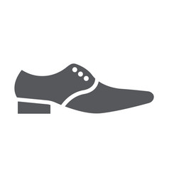 Man shoes glyph icon clothes and footwear formal vector
