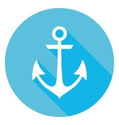 Marine anchor circle icon vector