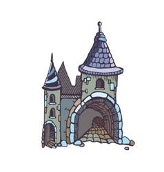 Medieval castles vector