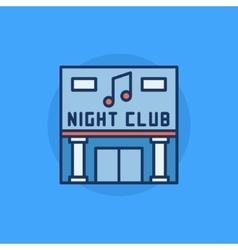 Night club building flat icon vector
