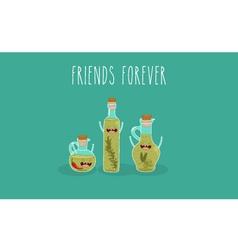 Olive oil bottle vector