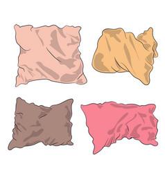 Pillows colored vector
