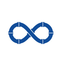 Plumbing infinity logo icon design vector