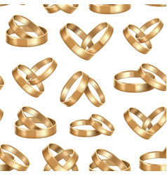 realistic detailed golden wedding rings seamless vector image