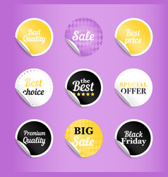 round best offer sale stickers vector image