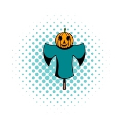 Scarecrow comics icon vector