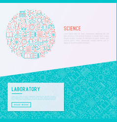 science and laboratory concept in circle vector image