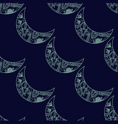 Seamless pattern with crescents vector