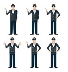 Set of Pilots vector image