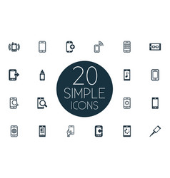 Set of simple mobile icons vector
