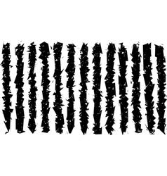 Sharp grunge irregular black lines pattern vector
