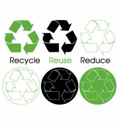 six recycle symbols vector image