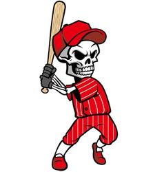 Skull baseball mascot vector