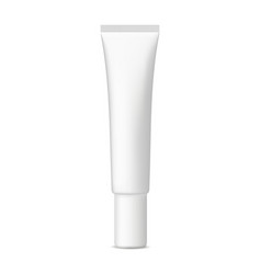 small plastic cosmetic tube mockup vector image