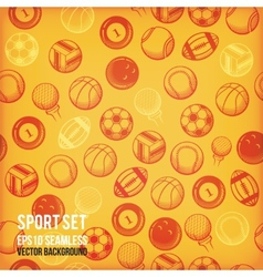 Sports seamless background Sports equipment vector