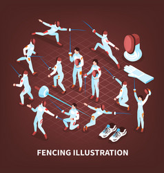 Sword play sports background vector
