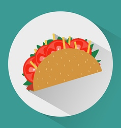 Taco colorful round icon vector image