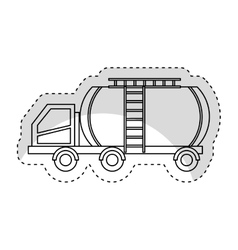 Tank car isolated icon vector