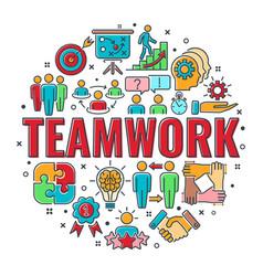 Teamwork collaboration banner vector