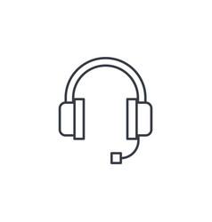 Technical support headphones microphone operator vector