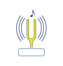 tuning fork icon vector image