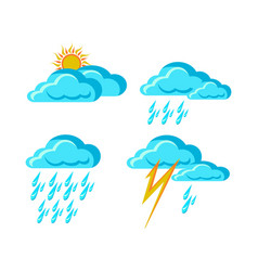 weather forecast signs vector image