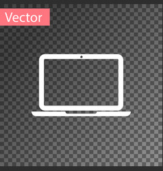 White laptop icon isolated on transparent vector