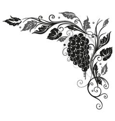 Wine vine border vector