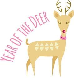 Year Of Deer vector