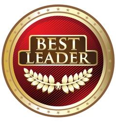 Best Leader Red Award vector image