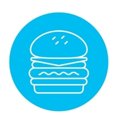 Double burger line icon vector image vector image