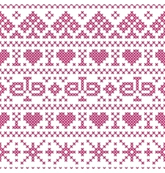 embroidery cross stitch style vector image