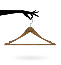 hand hold hanger vector image vector image