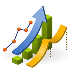 Business Performance Chart vector image vector image
