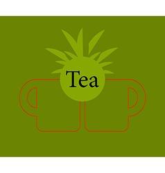 icon of green tea cup vector image