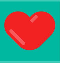 Minimal red heart emblem vector