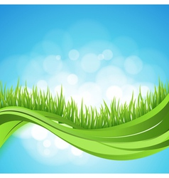 Nature ackground Abstract backdrop with green gra vector image vector image