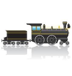old retro locomotive vector image