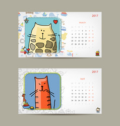 2017 baby calendar template insert your photo vector image vector image